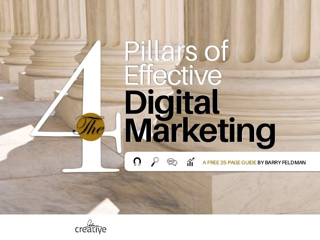 4  Pillars of Effective Digital MarketingThe AFREE25-PAGEGUIDEBYBARRYFELDMAN