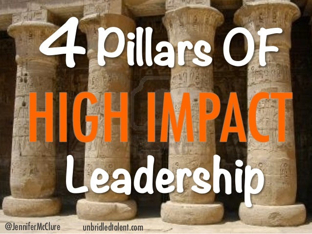 4 Pillars of High Impact Leadership