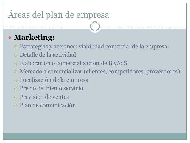Áreas del plan de empresa  Recursos humanos y jurídico mercantil  Estructura y organigrama de la empresa  Personas nece...