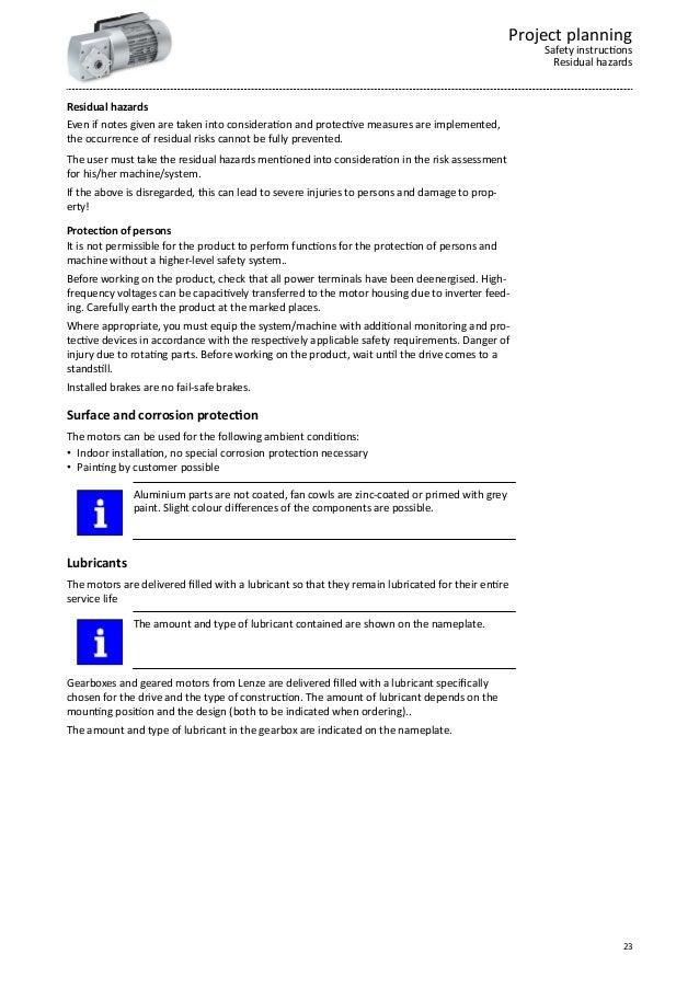 Planning guide - Lenze Smart Geared Motors 25-75Nm