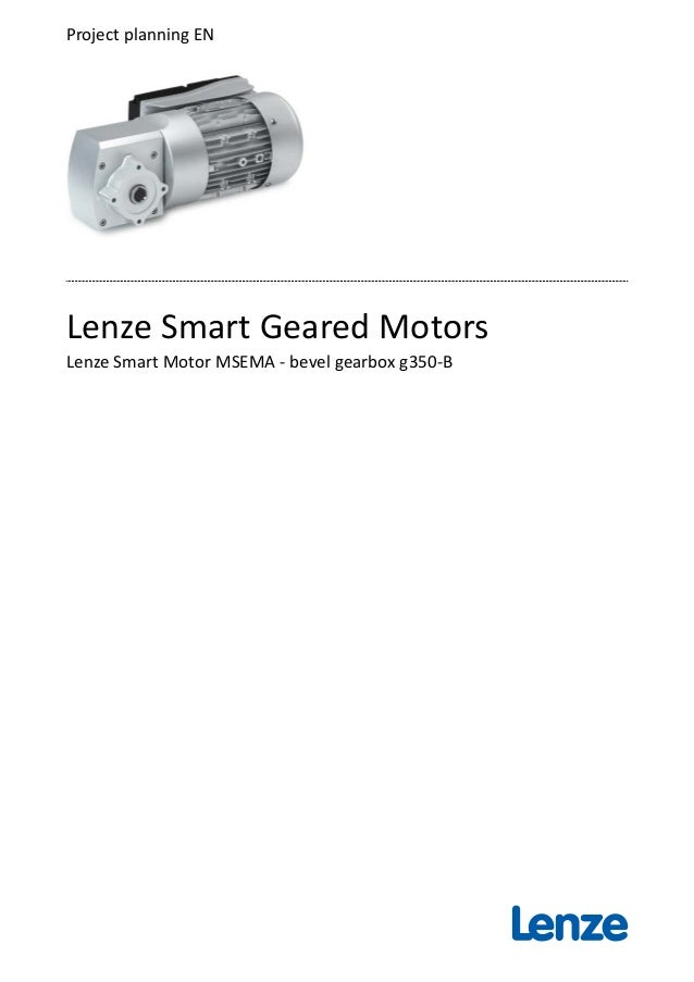 Planning guide - Lenze Smart Geared Motors 25-75Nm