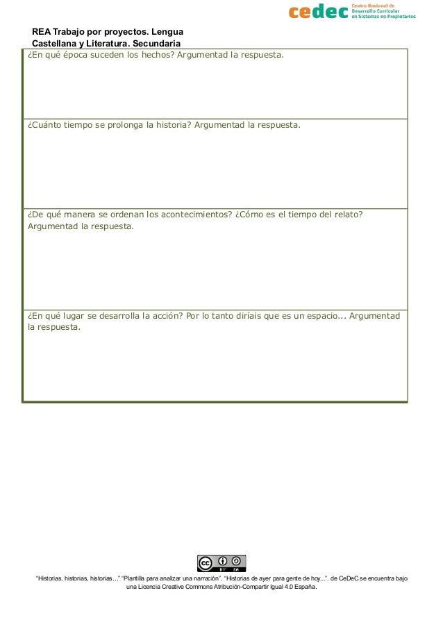 Plantilla para analizar un texto narrativo