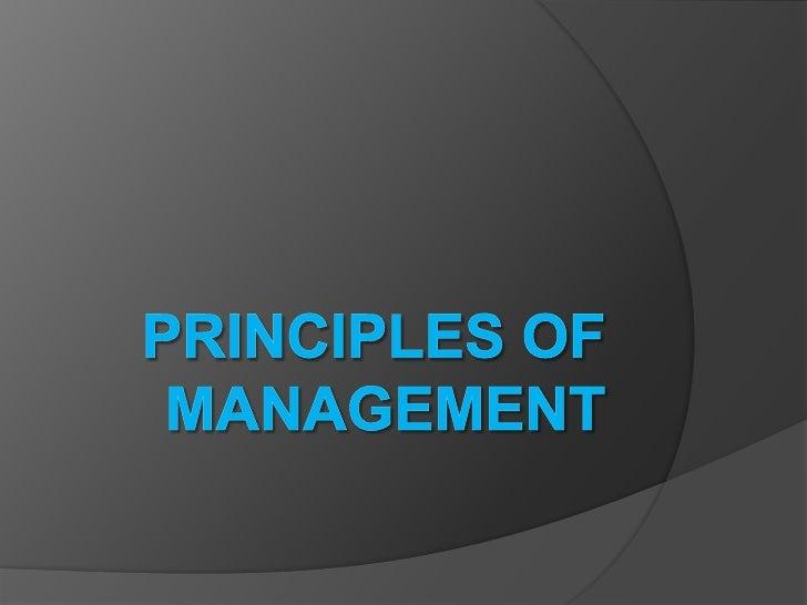 Principles of Management<br />