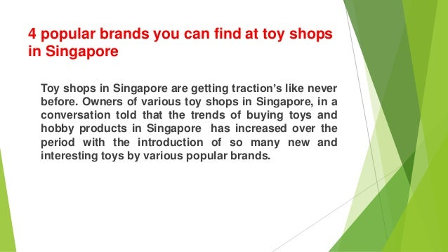 Popular Toy Brands : Popular brands you can find at toy shops in singapore
