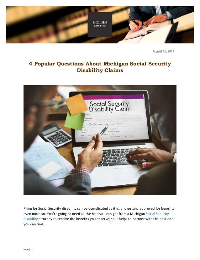 4 Popular Questions About Michigan Social Security Disability