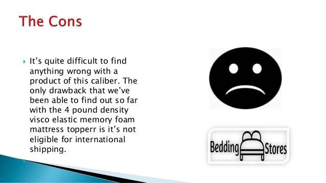 4 pound density visco elastic memory foam mattress topper. Black Bedroom Furniture Sets. Home Design Ideas