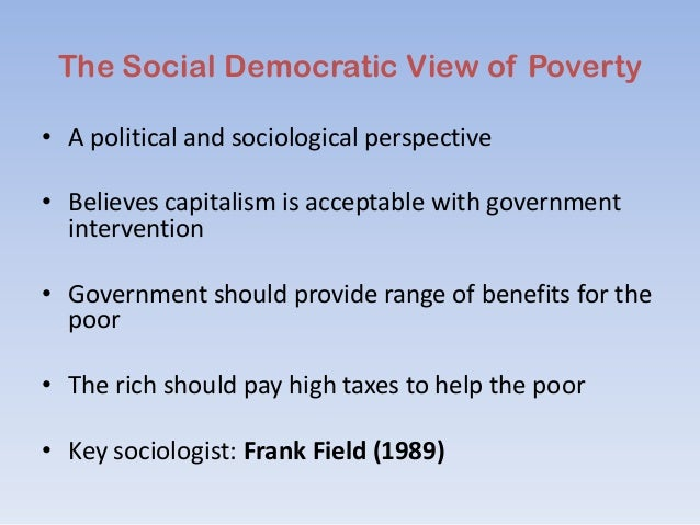 Sociological Perspectives on Poverty