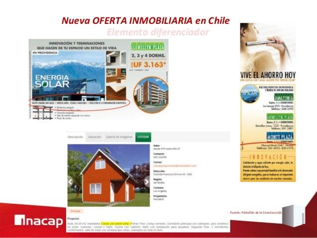Elemento diferenciador Nueva OFERTA INMOBILIARIA en Chile Fuente: Pabellón de la Construcción