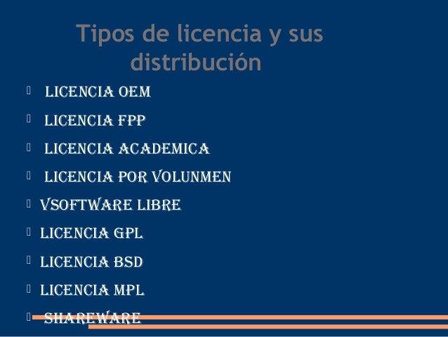 Ley de propiedad intelectual y licencias de softwere for Tipos de licencias para bares