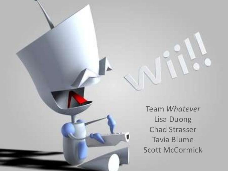 Team Whatever    Lisa Duong  Chad Strasser   Tavia BlumeScott McCormick