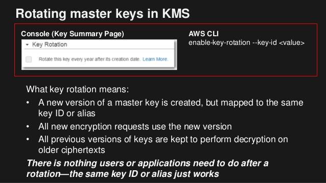 kms automatic key rotation