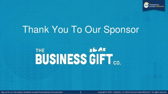 3 Thank You To Our Sponsor