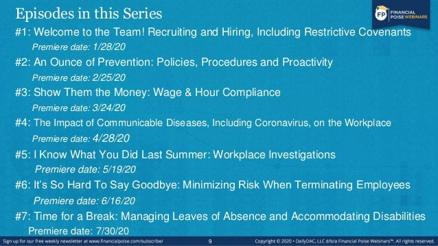 Episode #4 The Impact of Communicable Diseases, Including Coronavirus, on the Workplace 10