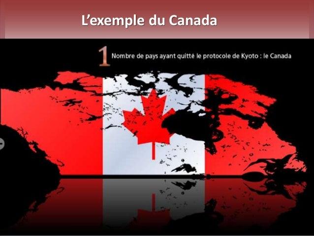 L'exemple du Canada
