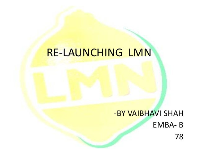 RE-LAUNCHING LMN -BY VAIBHAVI SHAH EMBA- B 78