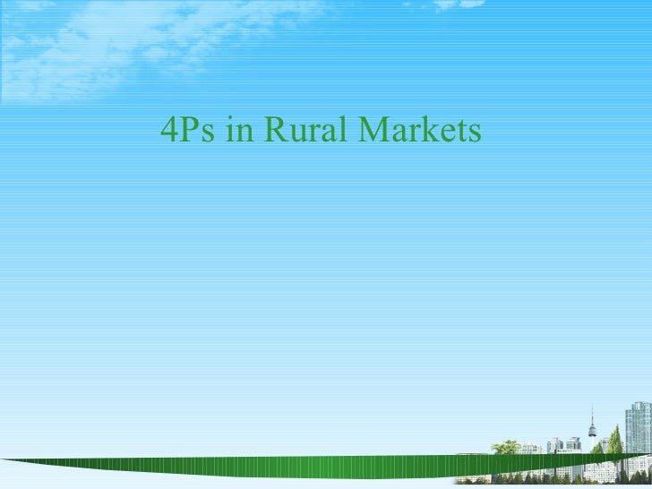 4Ps in Rural Markets