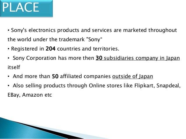Sony Marketing Mix and Marketing Strategy
