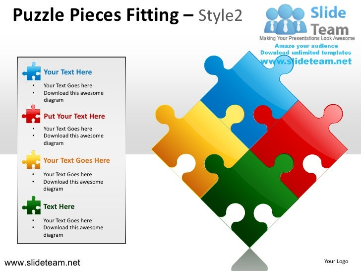 Puzzle Pieces Fitting – Style2          Your Text Here      •   Your Text Goes here      •   Download this awesome        ...