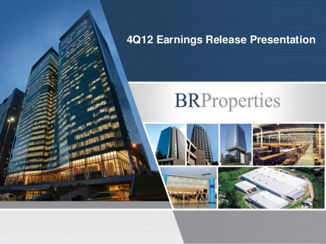 4Q12 Earnings Release Presentation