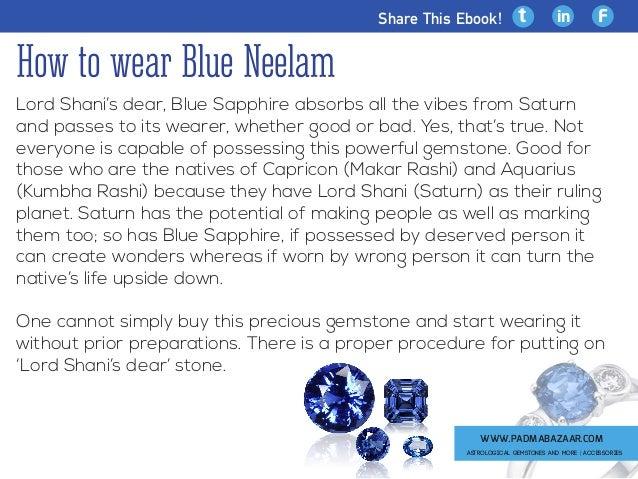 How To Wear Blue Neelam
