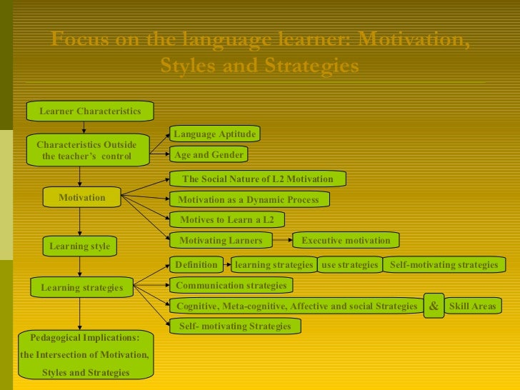Focus on the language learner:  Motivation ,  Styles  and  Strategies Learner Characteristics Characteristics Outside  the...