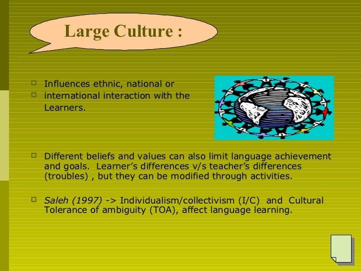 <ul><li>Influences ethnic, national or  </li></ul><ul><li>international interaction with the  </li></ul><ul><li>Learners. ...