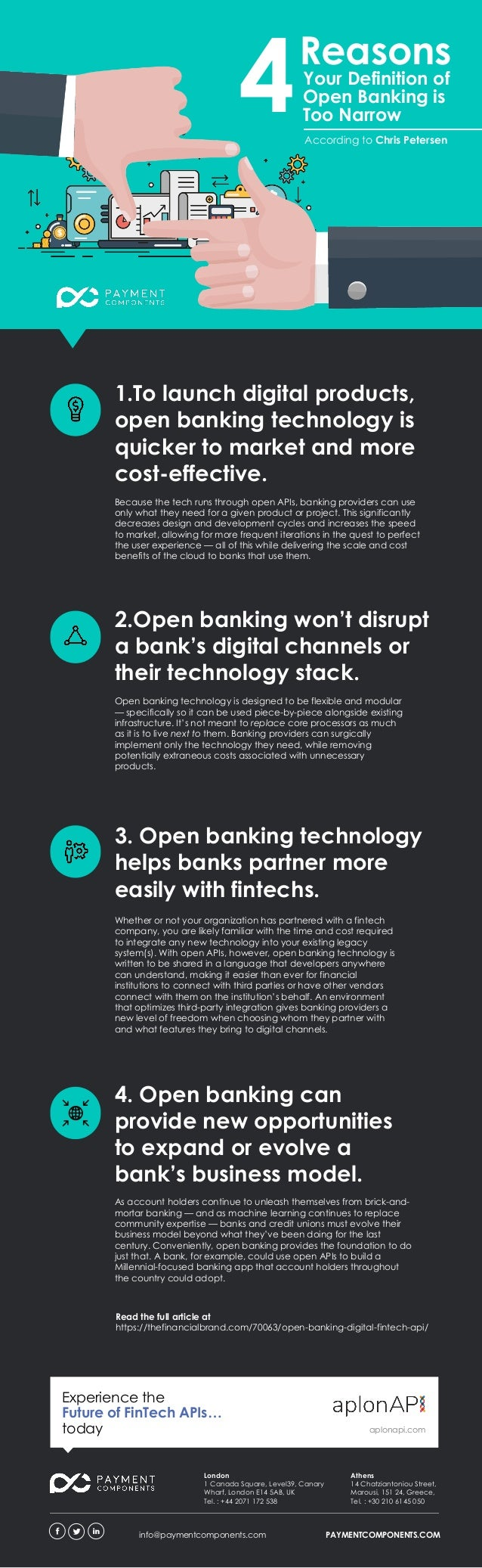 1.To launch digital products, open banking technology is quicker to market and more cost-effective. Your Definition of Ope...