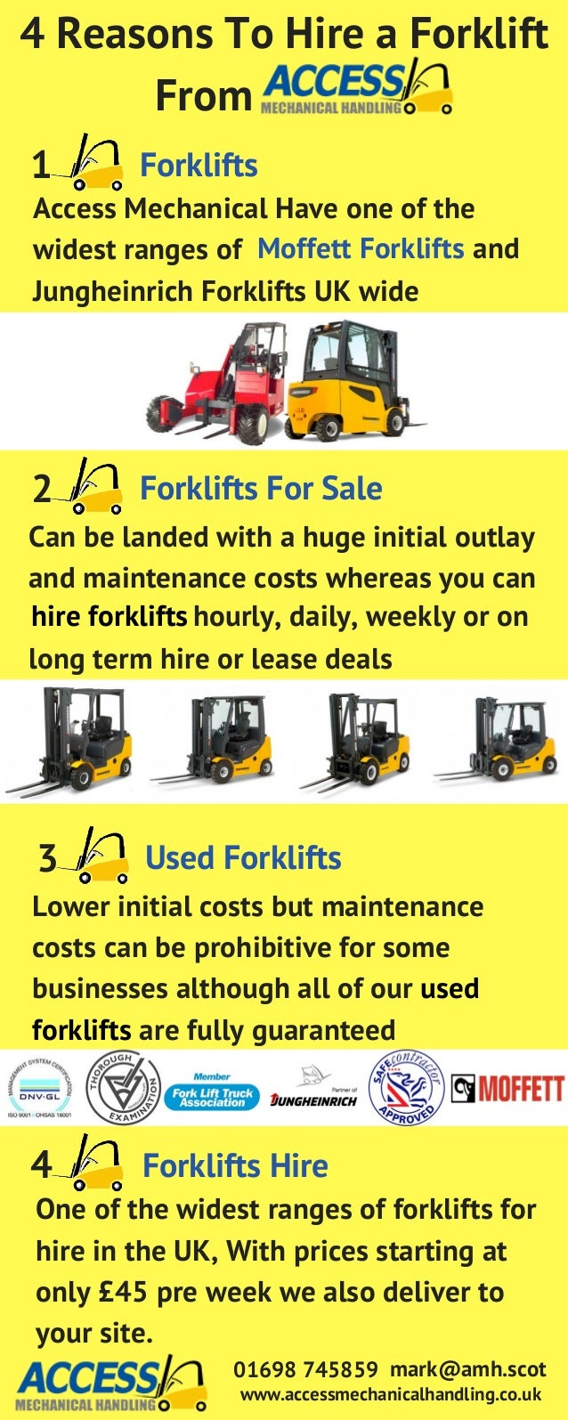 4 Reasons To Hire A Forklift