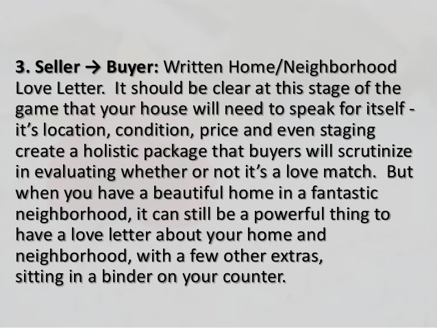 real estate offer cover letter buyer