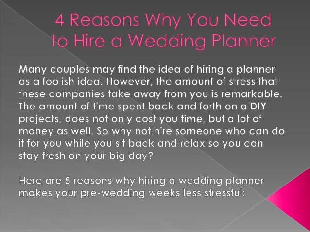 4 reasons why you need to hire a wedding planner while it may sound cheaper to plan your own wedding its easier said than done solutioingenieria Choice Image