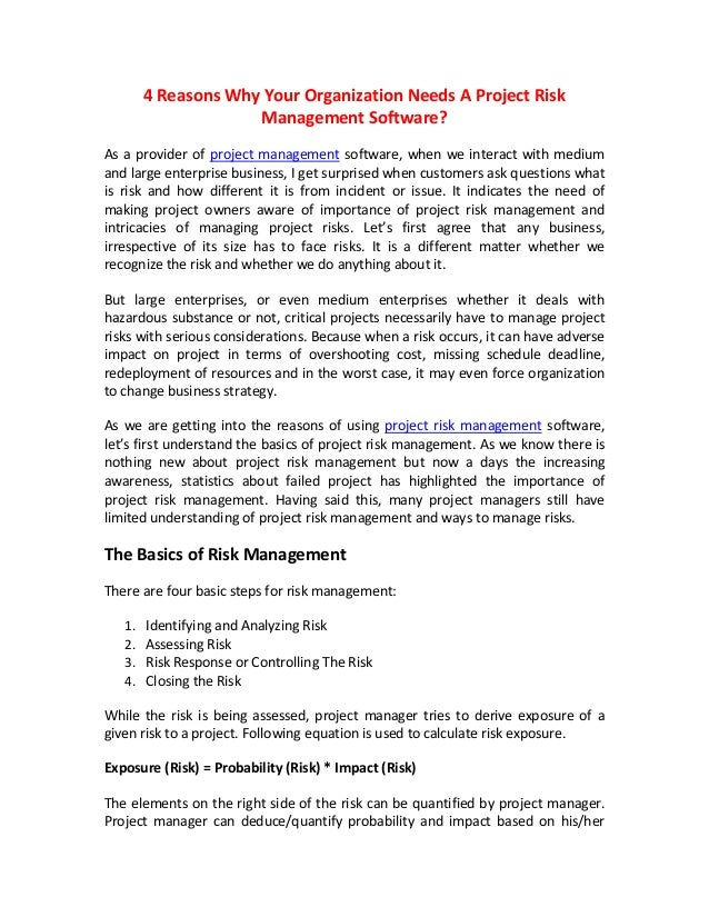the importance of risk management and Why iso 31000 is important to organizations nowadays   managers need to understand the importance of risk management as a.