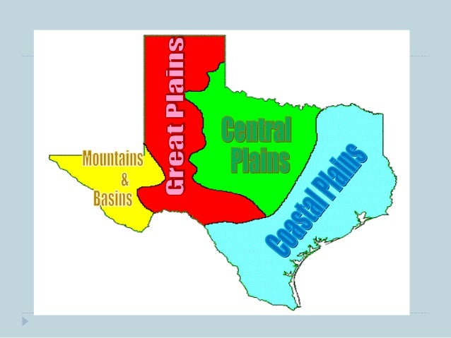 Four Regions of Texas