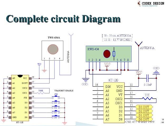 rf transmitter & receiver, Wiring block