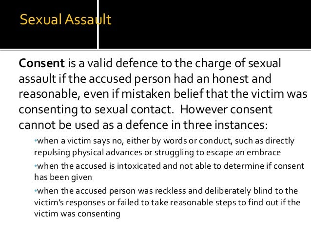 Criminal code of canada sexual consent
