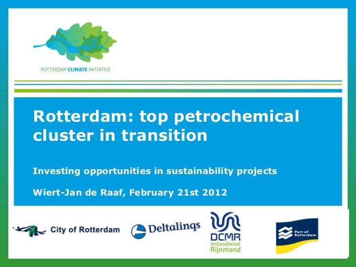Rotterdam: top petrochemicalcluster in transitionInvesting opportunities in sustainability projectsWiert-Jan de Raaf, Febr...