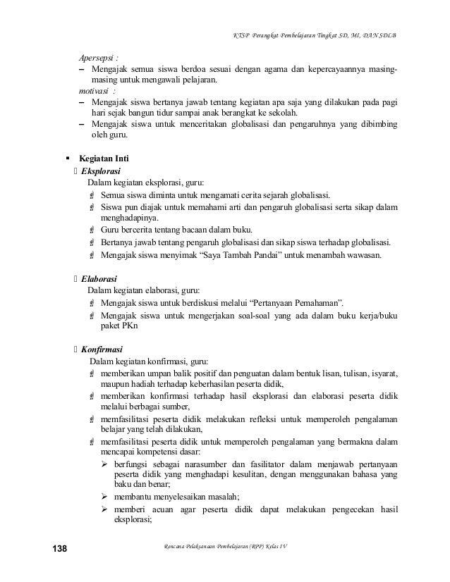 Apa Saja Perangkat Pembelajaran Ktsp Perangkat Pembelajaran Ktsp Rpp Silabus Pkn Kelas 4