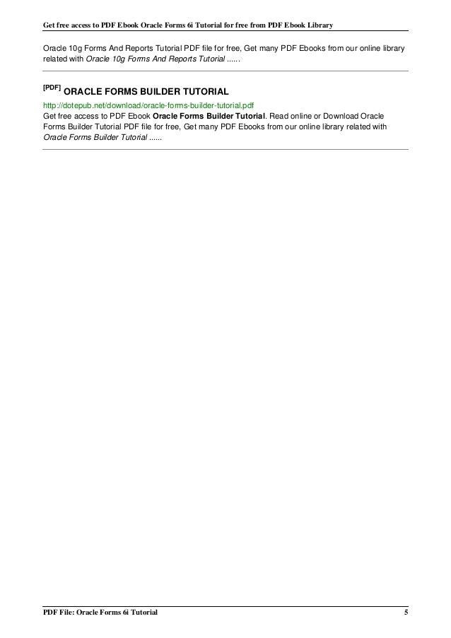 oracle 11g ebook pdf