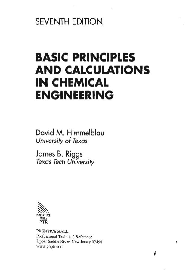 Basicprinciplesandcalculationsinchemicalengineering7thedition2 140607 4 himmelblau basic and in chemical engineeri 7th ed fandeluxe Image collections