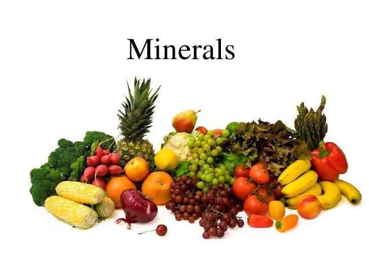 Mineral List Food