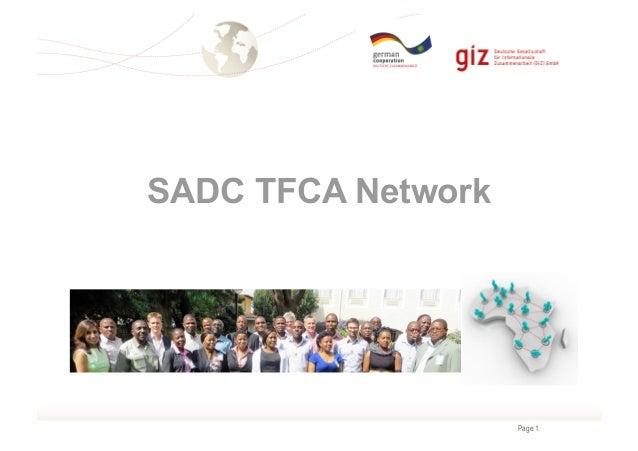 Page 1  SADC TFCA Network