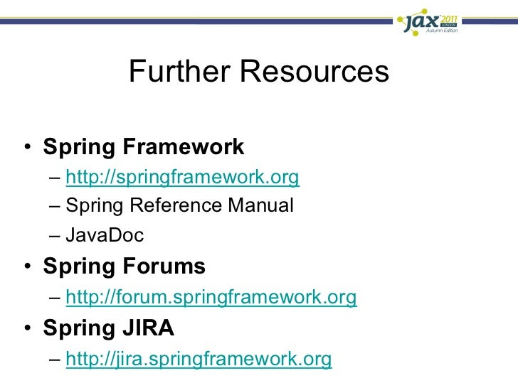 spring day spring 3 1 in a nutshell sam brannen rh slideshare net spring integration reference manual spring security reference manual