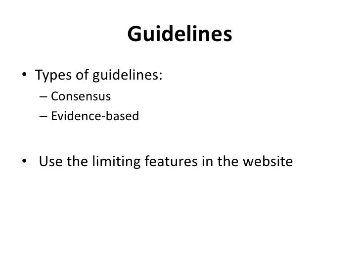 Primary Versus Secondary Sources For Evidence Based Medicine