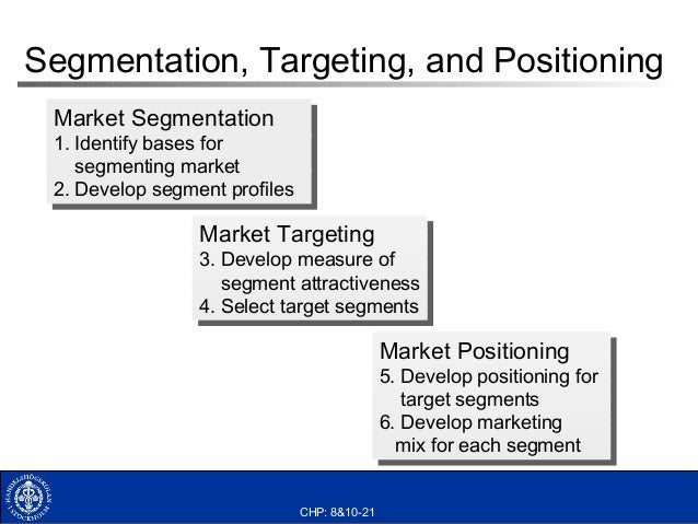 lego segmentation targeting positioning Segmentation, targeting, positioning • segmentation:  segment market choose target(s) position product(s) segmentation • segmentation = grouping consumers by some criteria, such that those within a group will respond similarly to a marketing action and those in a different group will respond differently.