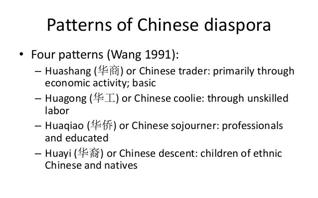 On the Move Migrations Seminar - Chinese Diaspora in