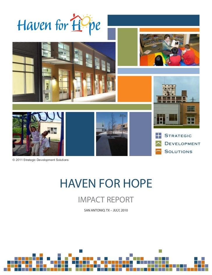 © 2011 Strategic Development Solutions                               HAVEN FOR HOPE                                       ...