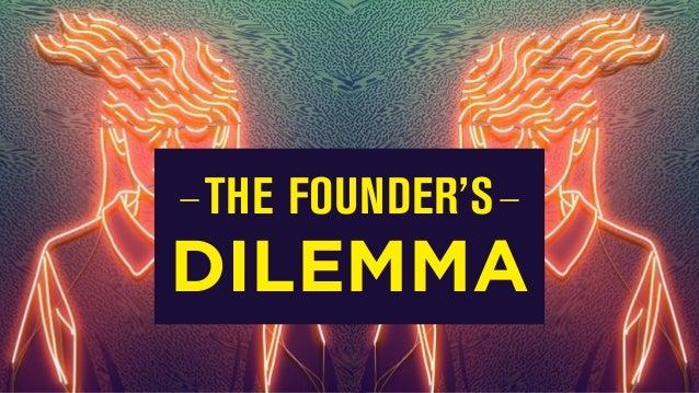 TheFamily: The Founder's Dilemma, by Oussama Ammar, Partner at TheFamily Slide 3