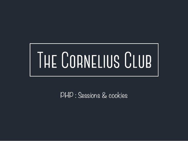 PHP : Sessions & cookies