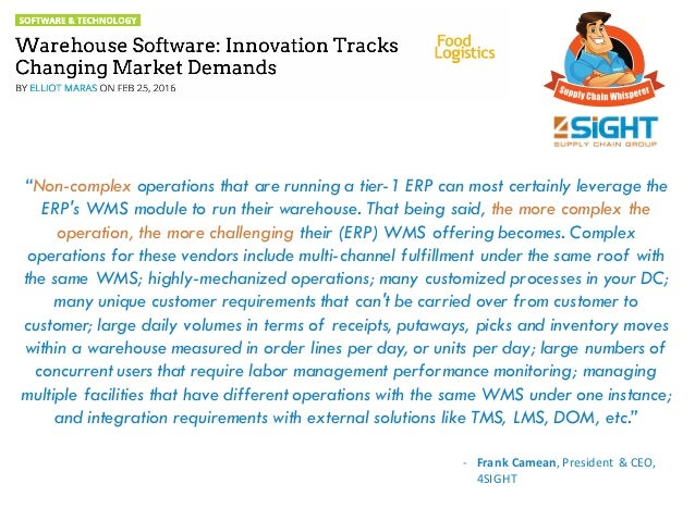 Warehouse Software: Innovation Tracks Changing Market Demands Slide 2