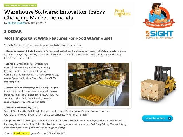 Warehouse Software: Innovation Tracks Changing Market Demands Slide 3