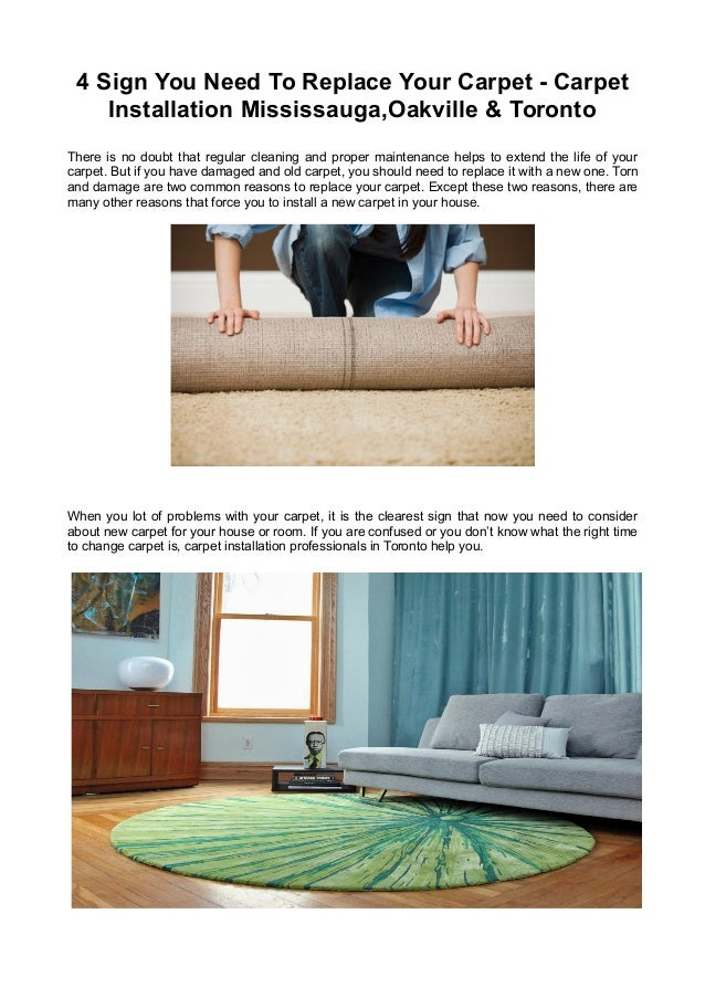 4 Sign You Need To Replace Your Carpet - Carpet Installation Mississauga,Oakville & Toronto